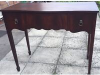 Antique Victorian writing desk / pedestal mahogany