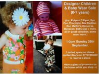 DESIGNER CHILDREN'S CLOTHES & SHOES 0-7 years