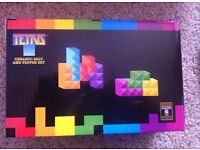 brand new in box ceramic 'tetris' salt and pepper pots