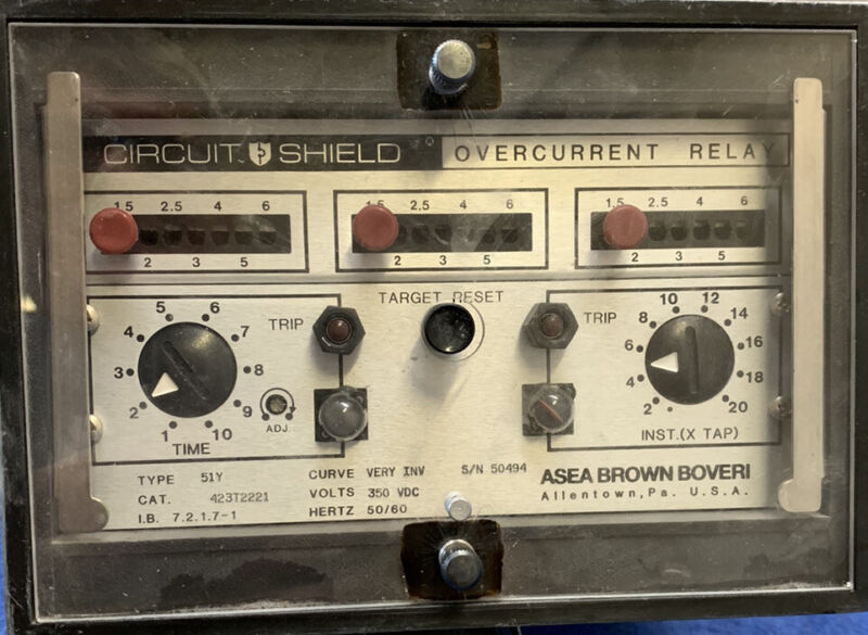 Brown Boveri Overcurrent Relay 51Y Used Free Shipping