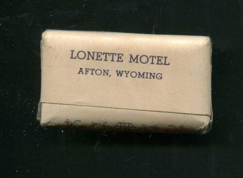 LONETTE Motel AFTON Wyoming Vintage Complimentary Bath Soap 888158