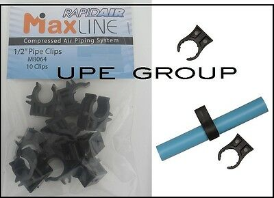 10 Pack Rapidair Maxline Compressed Air 12 Tubing Piping Clips Clamps M8064