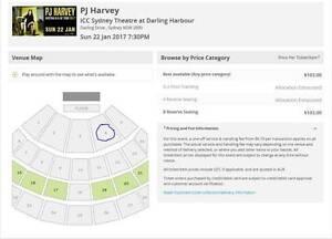 2 Tickets (A Reserve) PJ Harvey Sydney 22 January 2017 Croydon Burwood Area Preview