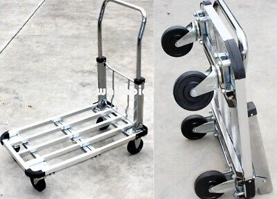 Aluminum 28 Flat Moving Sturdy Extendible Compact 220 Lb Hand Cart Truck Dolly