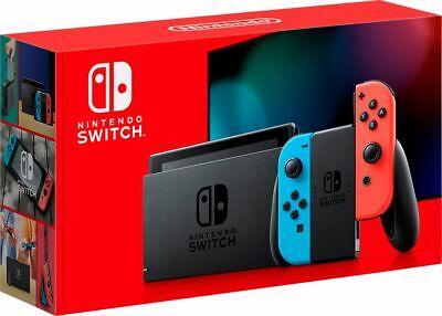 NEW V2 Nintendo Switch Neon Red Blue Joy-Con Console Latest Model FAST FREE Ship