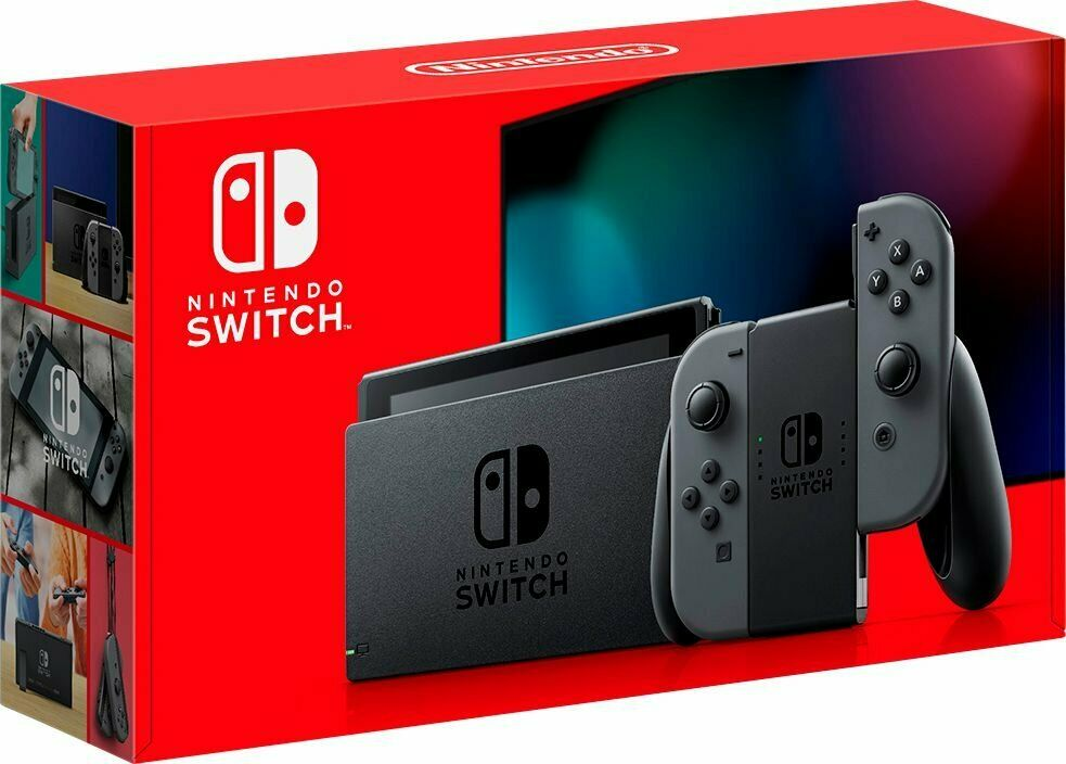 NEW Nintendo Switch with Gray Joy‑Con Handheld Gaming Cons