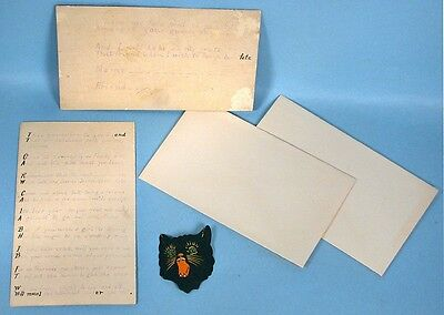 1920s Halloween Party Invitations Hand Written in Rhyme with Dennison Black Cat - Parties In 1920s