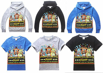 FNAF Kids Boys Girls Five Nights at Freddy's Hoodies Sweatshirts T-Shirts Tops