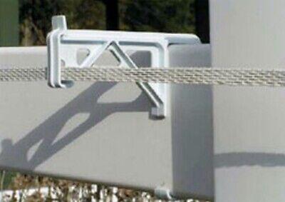 Vinyl Fence Insulator-white-25pkg