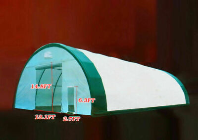 40x80x20 Dome Tension Canvas Fabric Storage Building Hoop Barn