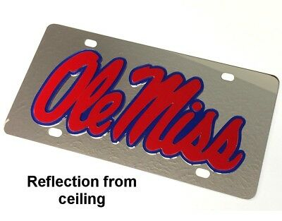 Ole Miss Stainless Steel License Plate Car Auto Tag (Ole Miss Auto-tag)