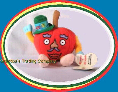 Early eBay Beanie Plush Mr Apple 1999 eBayana NEW in Pkg Collectible Toy Swag