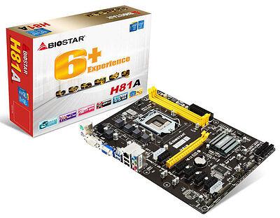 BIOSTAR H81A LGA 1150 Intel H81 Motherboard ETH ZCASH ZEC like TB85, ASROCK H81