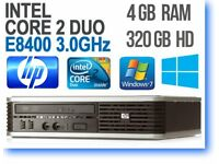 Small HP PC, Intel Core2Duo 3.0GHz, 4GB Ram,320GB HD