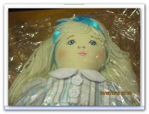 Kate Finn design, doll is named Georgina, embroided face, soft an