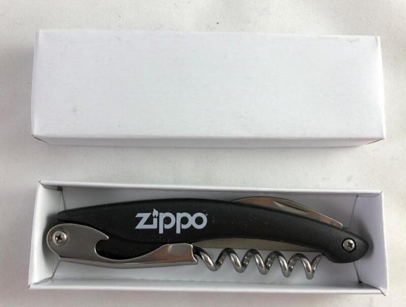 NEW Zippo Corkscrew Wine Bottle Opener Black