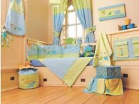 Boys baby cot bed / room furnishings set