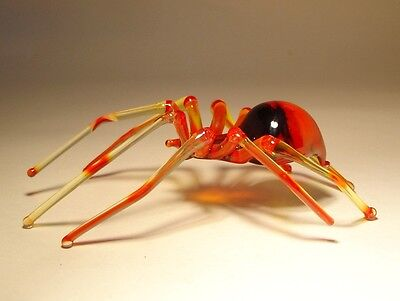 Blown Glass Figurine Art Insect Red SPIDER