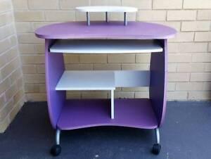 Kids Desk - White & Purple