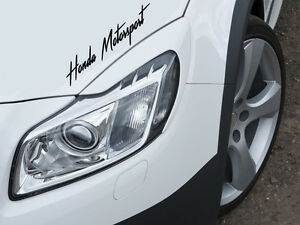 Honda Motorsport Auto Aufkleber Sticker Sports Mind KFZ Limited Edition Decal