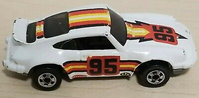 Vintage 1974 HOT WHEELS PORSCHE 911 BlackWall P-911 #95 WHITE 1:64 Diecast Rare