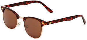 Classic-Retro-1980-s-Vintage-Tortoise-Brown-Clubmaster-Sunglasses-Full-UV400