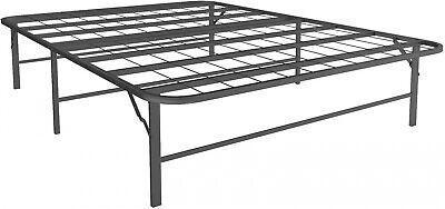 Full Platform Bed Frame - Platform Full Size Bed Frame, 14 Inch High Metal Mattress Stand, Foldable Black