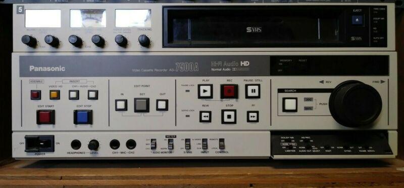Panasonic AG-7500A Professional Use VCR Recorder Editor