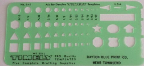 🌟 Timely 41T Small Shapes Template Drafting Survey Construction Made in USA