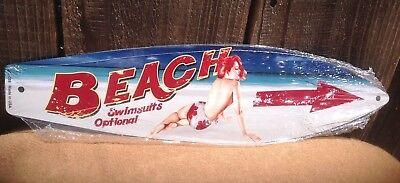 Beach Swimsuits Optional Mini Novelty Beach Surf Board Sign 17