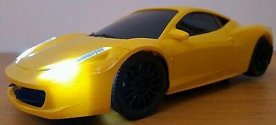 groß FERRARI 458 ITALIA Ferngesteuert Auto SCHNELLE GESCHWINDIGKEIT 1:16 GELB (Schnell Große Ferngesteuertes Auto)