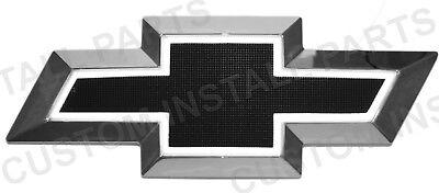 BLACK Front Emblem Grille Bowtie LED Light Up White Replaces 2282942 Fits Chevy - Led Bowtie