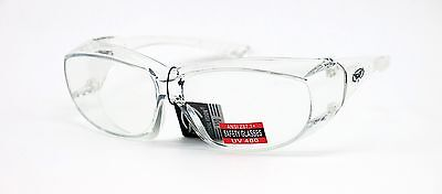 Global Vision Oversite Clear Glasses Fit Over Most Safety Glasses Z87 1
