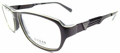 GUESS GUA1779 GRY Men's Eyeglasses Frames LARGE 55-17-145 Gray Laminate + Pouch