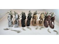 """/"""" 54mm Plastic Toy Soldiers TSSD10A /""""Mounted ACW Confederate Cavalry Gray"""