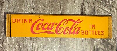Original Coca Cola Unassembled Wooden Crate Side Yellow Red Letters