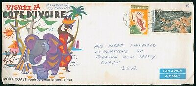 MayfairStamps Ivory Coast Tourism Center Travel Cover wwo30943