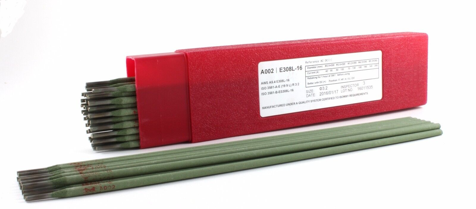 """4.4 LB E308L-16 12/"""" x 3//32/"""" Stainless Steel Electrode"""