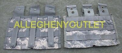 Lot of 2 Triple Mag Pouches 3 Magazine 3 X 30 ACU Molle Side by Side Pouch GOOD