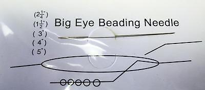 2.25 Inch big eye beading needle, split beading needle easy thread  kit011
