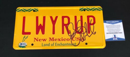 BOB ODENKIRK SIGNED AUTHENTIC AUTOGRAPH BETTER CALL SAUL LICENSE PLATE BECKETT 6