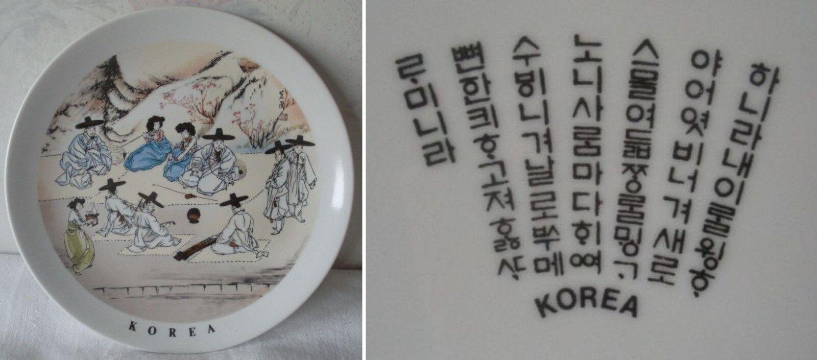 Decorative KOREA Plate Made in Korea Traditional Korean Clothing Men Women Image
