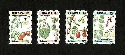 Botswana 1979 - SC#239-42 - Christmas, Flora, Plants - Set of 4 Stamps - MNH