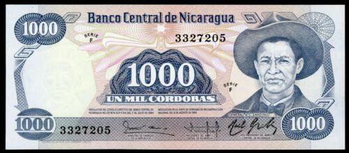 🔸NICARAGUA 1000 CORDOBAS 1984-1985 P-143 UNC RARE (C-025)🔸