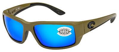 Costa Del Mar Fantail Sunglasses TF-198-OBMGLP Moss | Blue Mirror 580G (Costa Fantails)