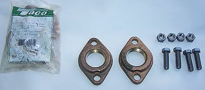 Taco Pump Flange 110-253 Bf 1 14 Bronze 1 Pair With 4 Bolts Nuts 110-249