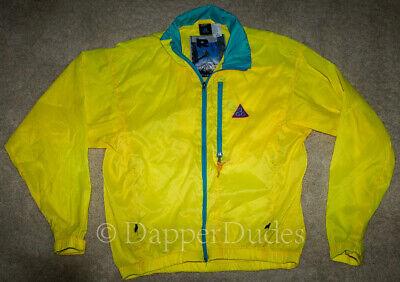 VTG 90's! NIKE ACG Mt. Rainier Full Zip Windbreaker Jacket-Men's S-Yellow-Mint!