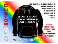 Promotional Clothing, Customised T-Shirt, Sweatshirts, Hoodies, Caps, printing