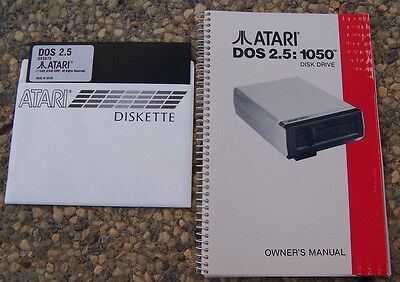 1050 Owners Manual w/DOS 2.5  New but scuffed cover 800/XL/XE Atari