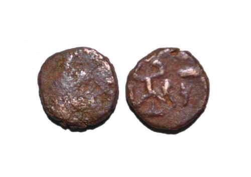 (A1013) Ancient Khwarizm AE coin, King Vasamar, ca AD 250-300.